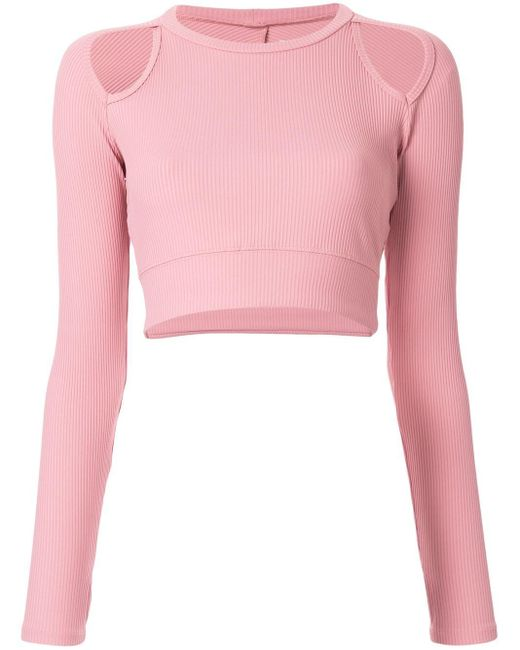 Year Of Ours Michelle Crop Top Pink