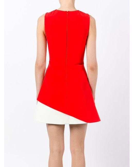 Fausto Puglisi カラーブロック ドレス Red