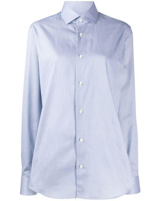 メンズ Z Zegna クラシックシャツ Blue