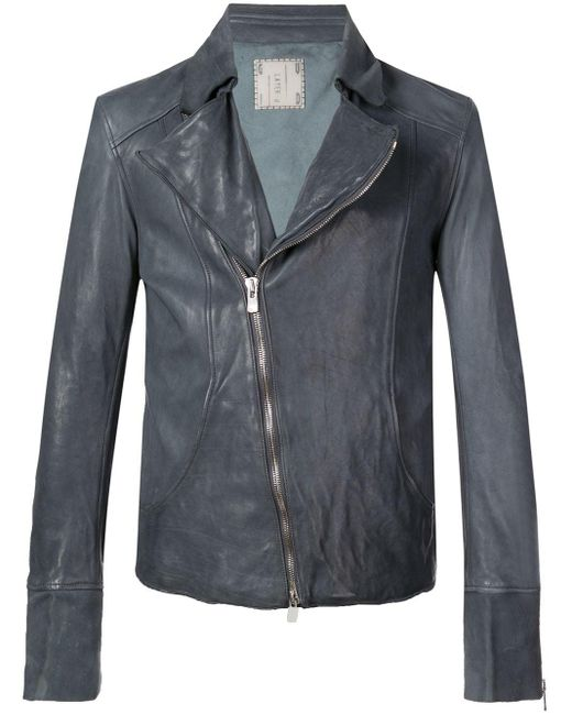 Байкерская Куртка Guidi для него, цвет: Blue