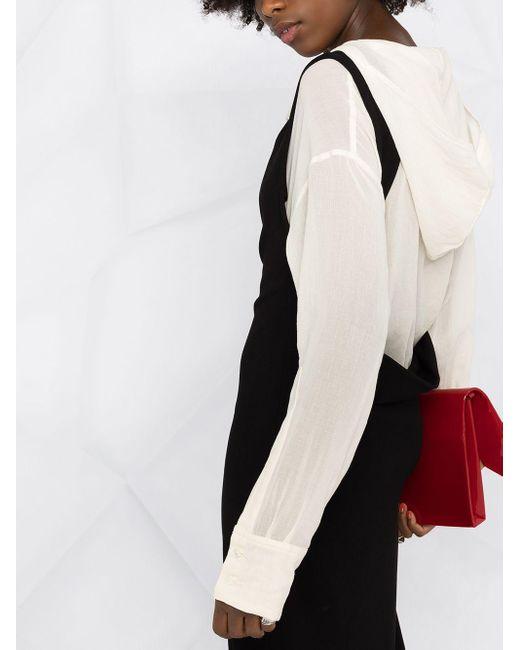 Платье Макси На Одно Плечо Ann Demeulemeester, цвет: Black