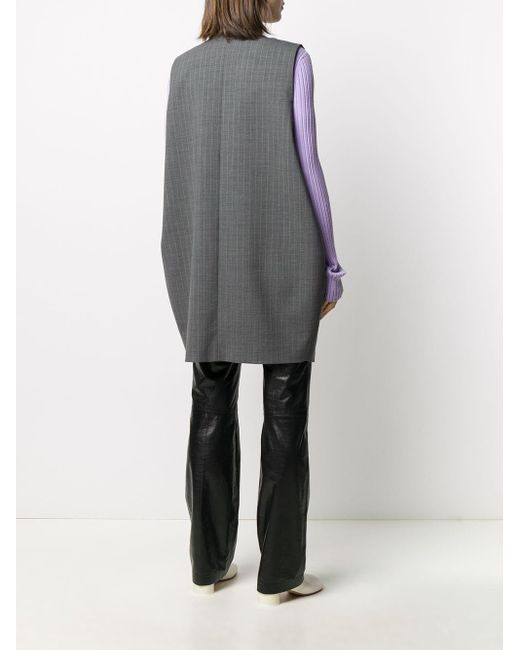 MM6 by Maison Martin Margiela ストライプ ジレ Gray