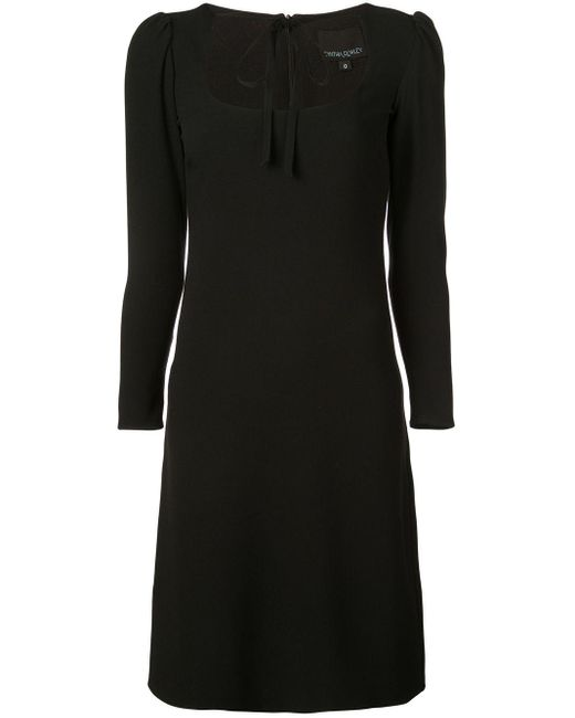 Cynthia Rowley Waverly ボウタイ ドレス Black