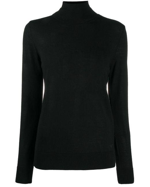 Emporio Armani タートルネック セーター Black