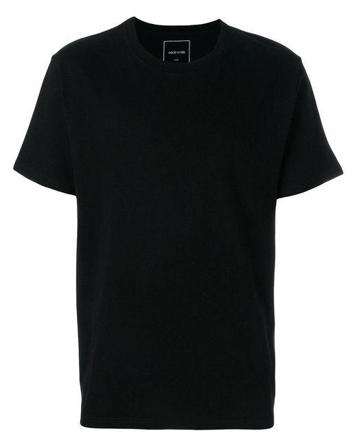 WOOD WOOD | Black Solid T-shirt for Men | Lyst