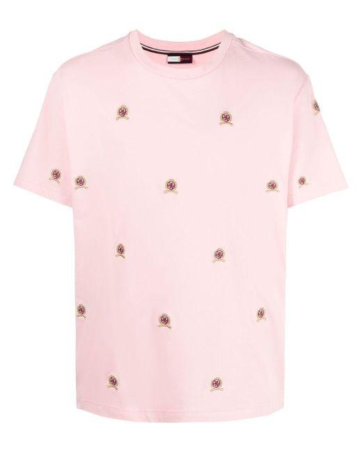 メンズ Tommy Hilfiger エンブロイダリーtシャツ Pink