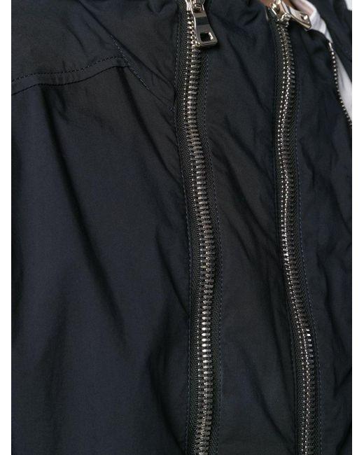 メンズ Balmain フーデッドジャケット Blue