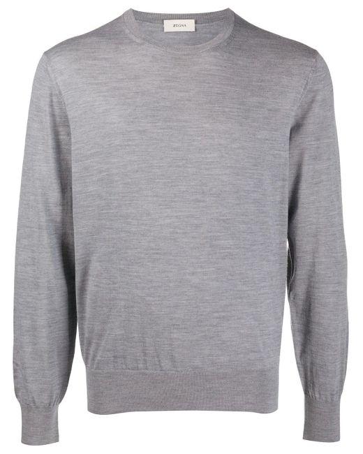 メンズ Z Zegna ウール スウェットシャツ Gray