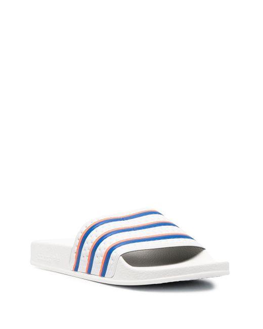 メンズ Adidas Adilette サンダル White