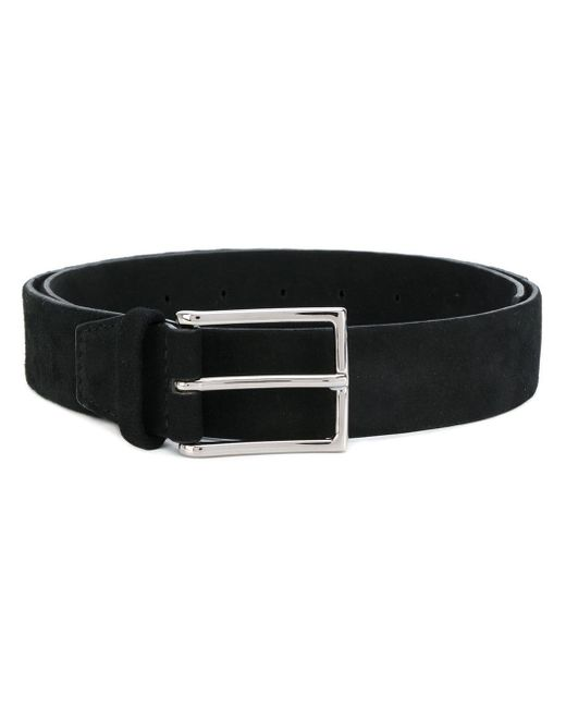 Orciani Black Thin Buckle Belt for men
