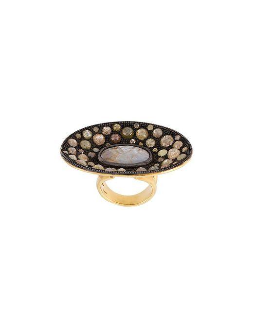 Loree Rodkin | Metallic Diamond Disc Ring | Lyst