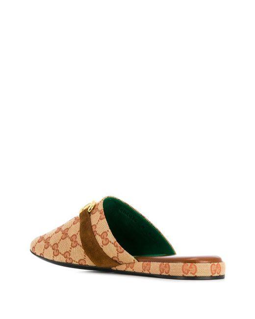 Слиперы 1955 Horsebit Gucci для него, цвет: Brown