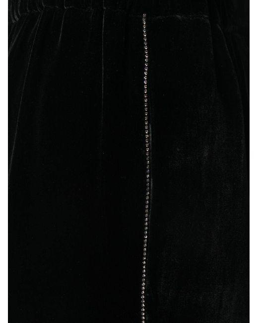 N°21 ビジュートリム パンツ Black