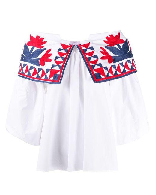 Top à épaules dénudées Stella Jean en coloris White