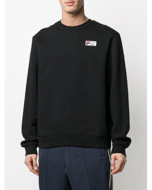 メンズ Fila ロゴ スウェットシャツ Black