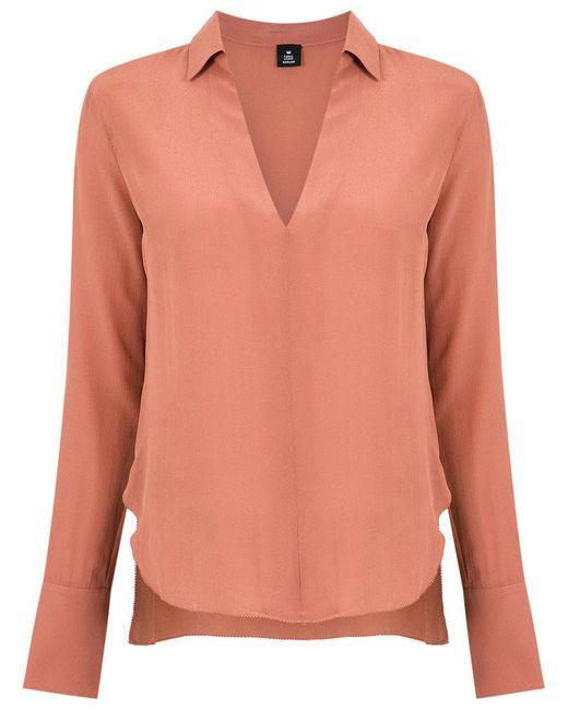 Osklen   Pink V-neck Shirt   Lyst