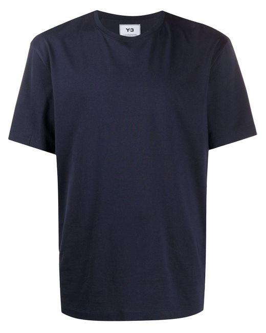 メンズ Y-3 ラウンドネック Tシャツ Blue