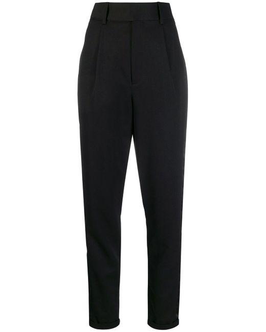 Брюки Строгого Кроя С Завышенной Талией Saint Laurent, цвет: Black