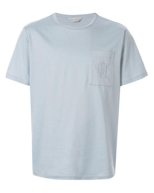 メンズ Gieves & Hawkes ポケット Tシャツ Blue