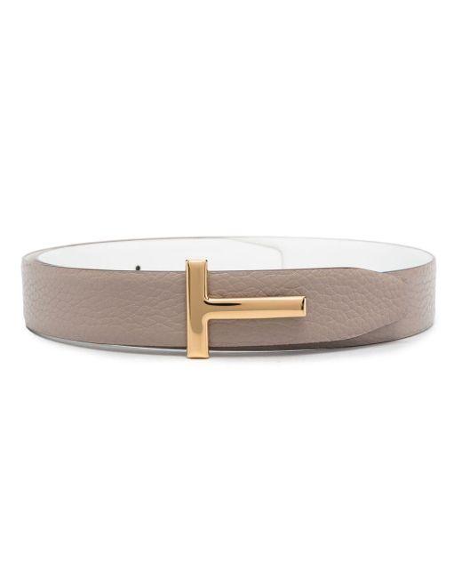 Tom Ford Pink T Buckle Belt