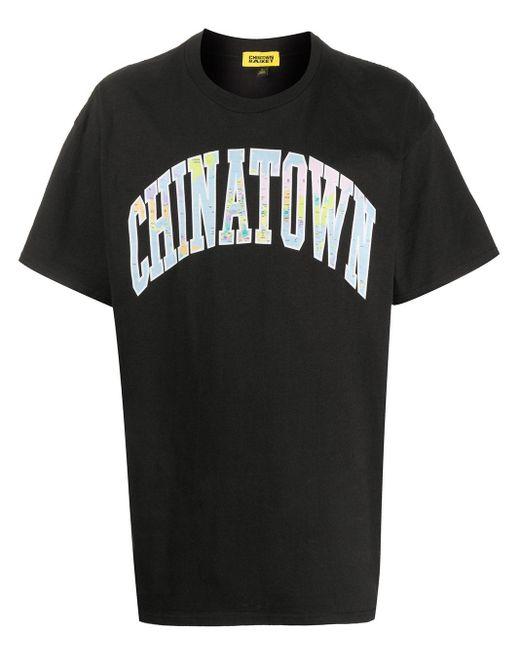 メンズ Chinatown Market クルーネック Tシャツ Black