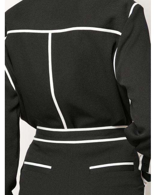 Блузка С Контрастной Окантовкой PROENZA SCHOULER WHITE LABEL, цвет: Black