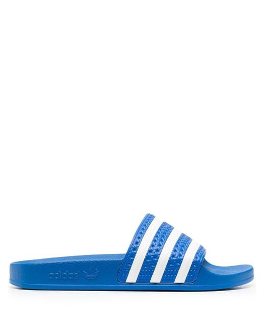 Adidas ストライプ サンダル Blue