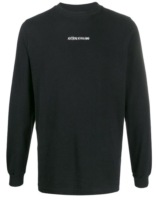 メンズ 1017 ALYX 9SM スローガン ロングtシャツ Black