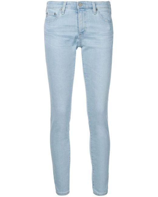 AG Jeans クロップド ローライズ ジーンズ Blue