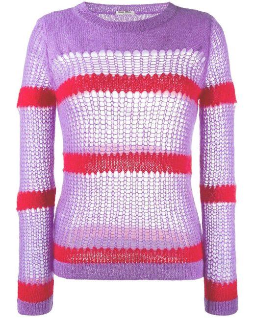 Miu Miu オープンステッチ セーター Multicolor
