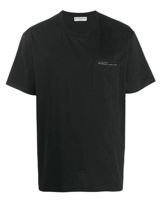 メンズ Givenchy リボントリム Tシャツ Black