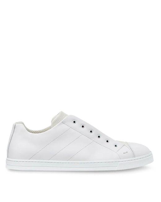 Кроссовки Без Шнуровки Fendi для него, цвет: White