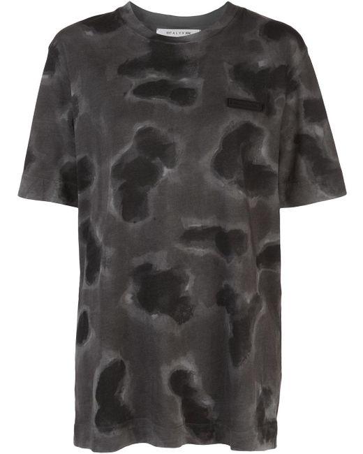 1017 ALYX 9SM Camiseta con motivo militar de mujer de color gris
