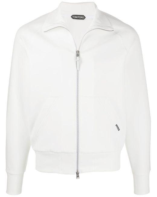 メンズ Tom Ford ファンネルネック スウェットシャツ White