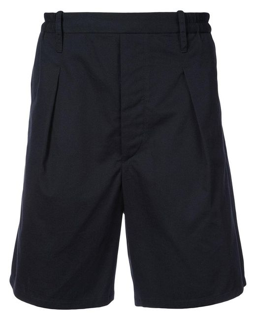 Lemaire - Blue Elasticated Tailored Shorts for Men - Lyst