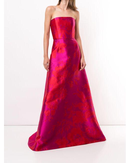 Carolina Herrera フローラルジャカード ドレス Pink