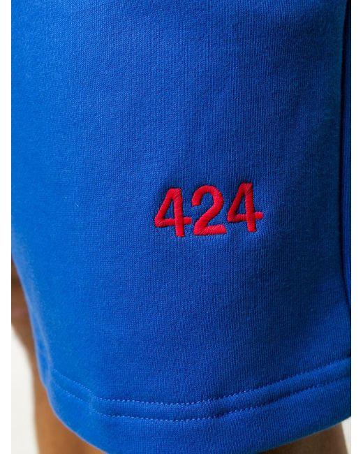 メンズ 424 ロゴ トラックショーツ Blue