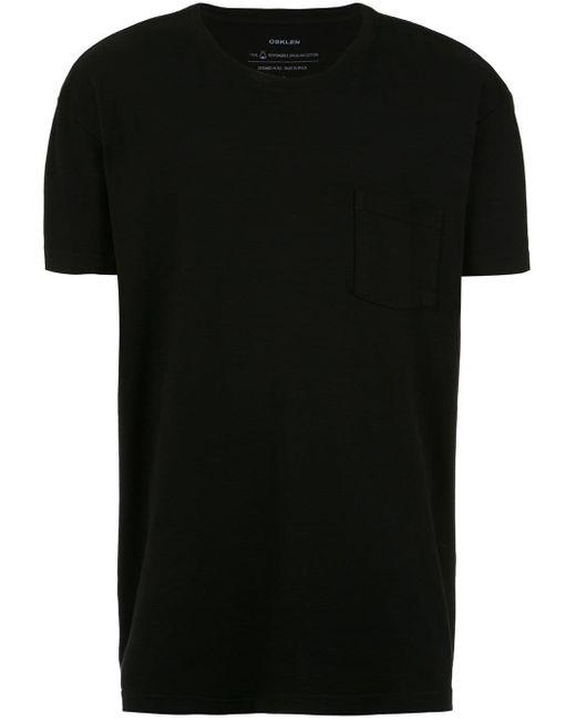 メンズ Osklen Touch E-basics Tシャツ Black