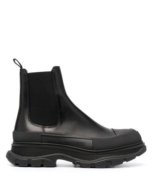 Bottines chelsea à semelle épaisse Alexander McQueen pour homme en coloris Black