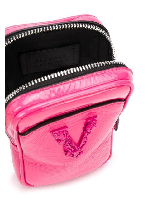 Сумка Virtus С Ремешком На Шею Versace для него, цвет: Pink