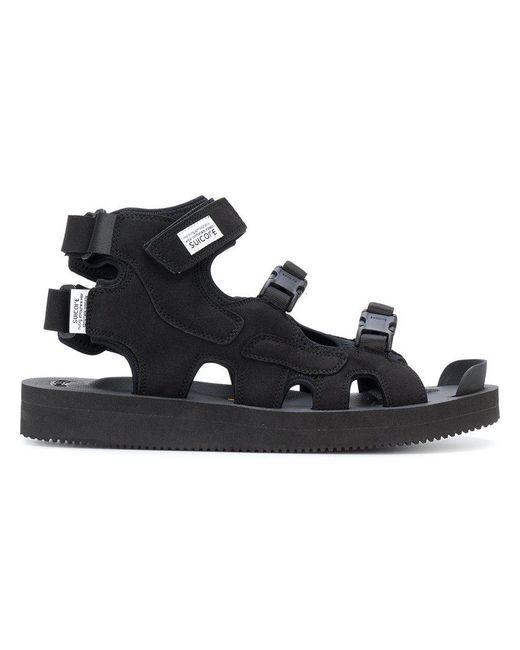 8558bc4863b Suicoke - Black Buckle Detail Sandals - Lyst ...