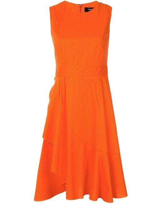 Paule Ka ラッフル ドレス Orange