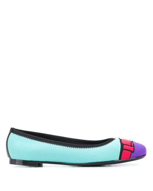 Zapatos de tacón con paneles Ferragamo de color Blue
