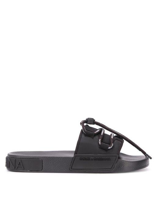 メンズ Dolce & Gabbana ロゴ サンダル Black
