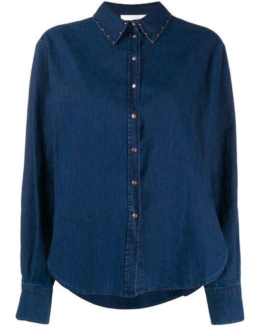 See By Chloé スタッズ シャツ Blue