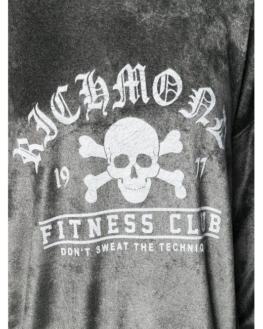 John Richmond Fitness Club プリント トップ Gray