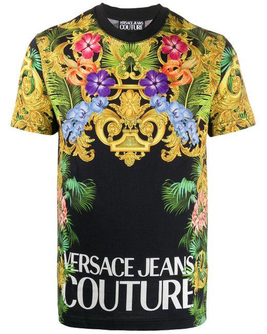 メンズ Versace Jeans ロゴ Tシャツ Multicolor