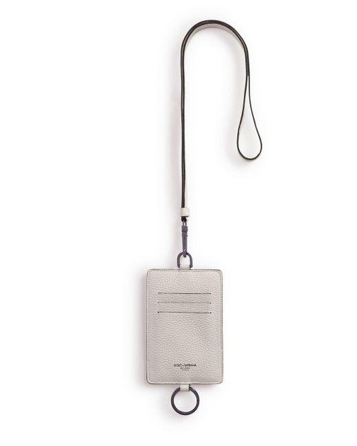 Картхолдер С Ремешком Dolce & Gabbana для него, цвет: Gray