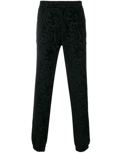 メンズ Versace バロック ストレートパンツ Black