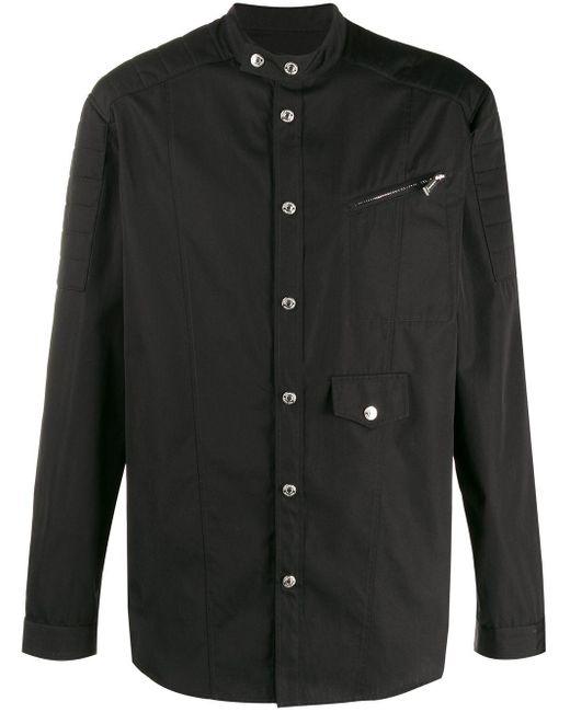 メンズ DSquared² バンドカラー シャツ Black